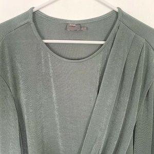 ASOS Dresses - ASOS Mint Green Long Sleeve Draped Jersey Dress
